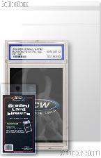 Graded Card Sleeves by BCW 100 Resealable Sleeves for Graded Cards