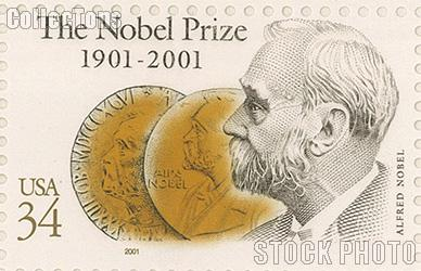 2001 Nobel Prize Centenary Series 34 Cent US Postage Stamp Unused Sheet of 20 Scott #3504