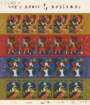2005 Let's Dance 37 Cent US Postage Stamp Unused Sheet of 20 Scott #3939 - #3942