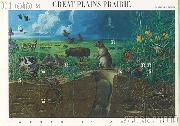 2001 Great Plains Prairie 34 Cent US Postage Stamp Unused Sheet of 10 Scott #3506