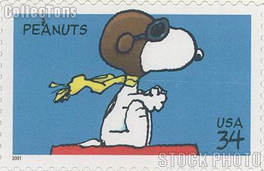 2001 Peanuts Comic Strip 34 Cent US Postage Stamp Unused Sheet of 20 Scott #3507