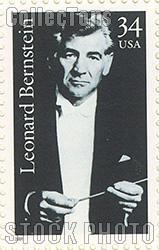 2001 Leonard Bernstein (1918-1990), Conductor 34 Cent US Postage Stamp Unused Sheet of 20 Scott #3521