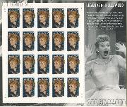 2001 Lucille Ball 34 Cent US Postage Stamp Unused Sheet of 20 Scott #3523