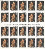 2001 Christmas - Madonna 34 Cent US Postage Stamp Unused Booklet of 20 Scott #3536