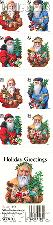 2001 Christmas - Santa Clause 34 Cent US Postage Stamp Unused Booklet of 20 Scott #3537A-#3540A
