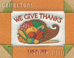 2001 Thanksgiving 34 Cent US Postage Stamp Unused Sheet of 20 Scott #3546