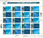 2002 Winter Olympics 34 Cent US Postage Stamp Unused Sheet of 20 Scott #3552 - #3555