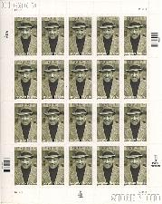2002 Black Heritage Series - Langston Hughes 34 Cent US Postage Stamp Unused Sheet of 20 Scott #3557