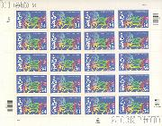 2002 Chinese New Year - Horse 34 Cent US Postage Stamp Unused Sheet of 20 Scott #3559