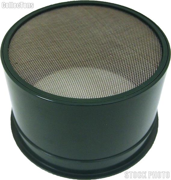 "6"" Green Mini Stackable Gold Sifter - 30 holes per square inch"