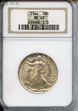 1944 Walking Liberty Silver Half Dollar in NGC MS 65
