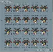 2002 U.S. Military Academy Bicentennial 34 Cent US Postage Stamp Unused Sheet of 20 Scott #3560