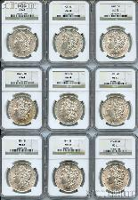 Morgan Silver Dollar 1878-1904 in NGC MS 62 Mixed Dates and Mint Marks