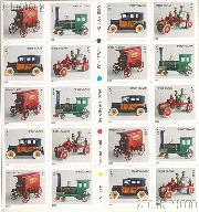 2002 Antique Toys First Class (37 Cent) US Postage Stamp Unused Booklet of 20 Scott #3626E - #3629E
