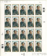 2002 Harry Houdini (1874-1926), Magician 37 Cent US Postage Stamp Unused Sheet of 20 Scott #3651