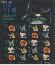 2002 American Bats 37 Cent US Postage Stamp Unused Sheet of 20 Scott #3661-#3664