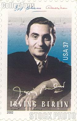 2002 Irving Berlin 37 Cent US Postage Stamp Unused Sheet of 20 Scott #3669