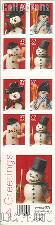 2002 Christmas - Snowman 37 Cent US Postage Stamp Unused Booklet of 20 Scott #3684B-#3687B