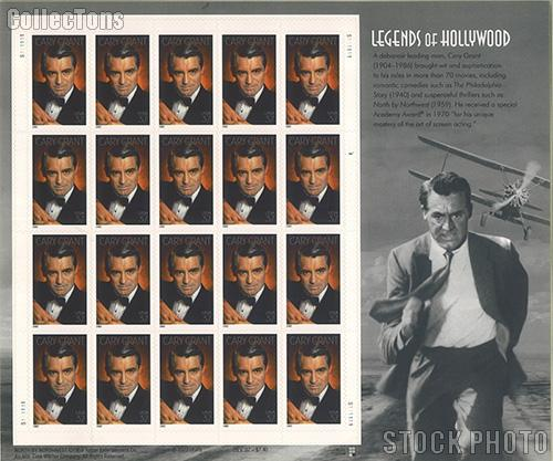 2002 Cary Grant 37 Cent US Postage Stamp Unused Sheet of 20 Scott #3692