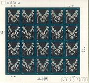 2003-2008 American Design Series - Navajo Necklace 2 Cent US Postage Stamp Unused Sheet of 20 Scott #3752