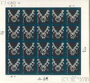 2003-2008 American Design Series - Navajo Necklace 2 Cent US Postage Stamp Unused Sheet of 20 Scott #3752