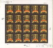 2003-2008 American Design Series - Chippendale Chair 4 Cent US Postage Stamp Unused Sheet of 20 Scott #3755