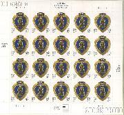 2003 United States Purple Heart 37 Cent US Postage Stamp Unused Sheet of 20 Scott #3784