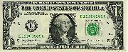 One Dollar Bill Federal Reserve Note FRN Series 1995 US Currency CU Crisp Uncirculated