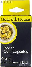 Guardhouse Box of 10 Coin Capsules for NICKELS (21.2mm)