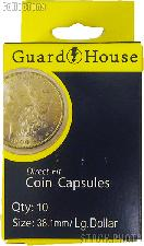 Guardhouse Box of 10 Coin Capsules for LARGE DOLLARS (38.1mm)