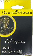 Guardhouse Box of 10 Coin Capsules for SILVER EAGLES (40.6mm)