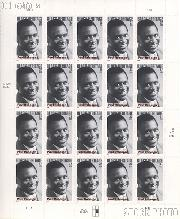 2004 Black Heritage Series - Paul Robeson 37 Cent US Postage Stamp Unused Sheet of 20 Scott #3834
