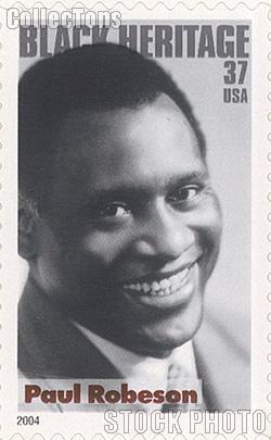 2004 Black Heritage Series - Paul Robeson 37 Cent US Postage Stamp Unused Sheet of 20 Scott #3834
