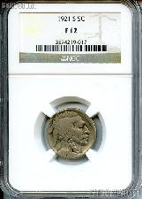 1921-S Buffalo Nickel in NGC F 12