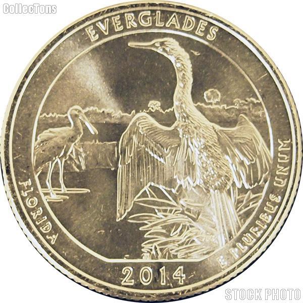 2014-P Florida Everglades National Park Quarter GEM BU America the Beautiful