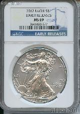 2012 American Silver Eagle Dollar EARLY RELEASES in NGC MS 69