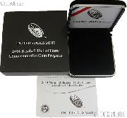 2014 National Baseball Hall of Fame Commemorative Uncirculated Silver Dollar OGP Replacement Box and COA