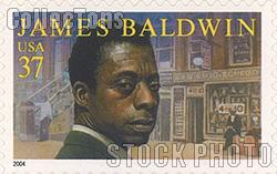 2004 Literary Arts - James Baldwin 37 Cent US Postage Stamp Unused Sheet of 20 Scott #3871