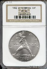 1992-D U.S. Olympic Baseball Commemorative Uncirulated Silver Dollar in NGC MS 69