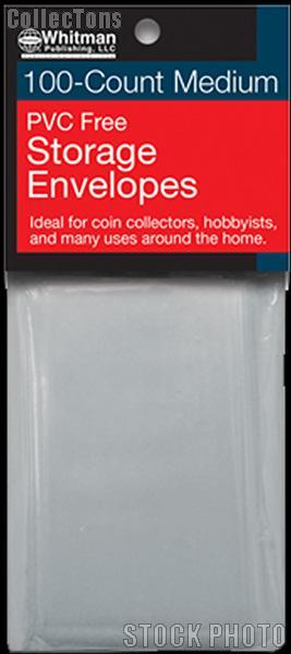 100 Whitman PVC Free Storage Envelopes - Medium