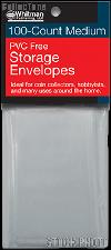 100 Whitman PVC Free Storage Envelopes - Medium