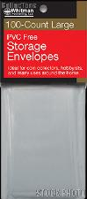 100 Whitman PVC Free Storage Envelopes - Large
