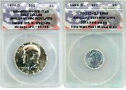 CollecTons Keepers #1 & #2 Starter Set: 1970-D Kennedy Half Dollar & 1996-W Roosevelt Dime