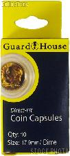 Guardhouse Box of 10 Coin Capsules for DIMES (17.9mm)
