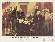 1976 Declaration of Independence 18 Cent US Postage Stamp MNH Souvenir Sheet of 5 Scott #1687