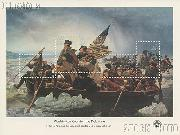 1976 Washington Crossing the Delaware 24 Cent US Postage Stamp MNH Souvenir Sheet of 5 Scott #1688