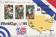 1994 World Cup Soccer Championships US Postage Stamp MNH Souvenir Sheet of 3 Scott #2837