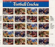 1997 Football Coaches 32 Cent US Postage Stamp MNH Sheet of 20 Scott #3143-#3146