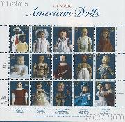 1997 American Dolls 32 Cent US Postage Stamp MNH Sheet of 15 Scott #3151