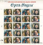 1997 American Music Series - Opera Singers 32 Cent US Postage Stamp MNH Sheet of 20 Scott #3154-#3157